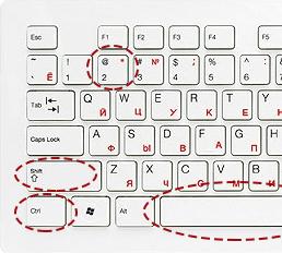 градус на клавиатуре